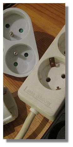 steckdosen und stecker in europa. Black Bedroom Furniture Sets. Home Design Ideas